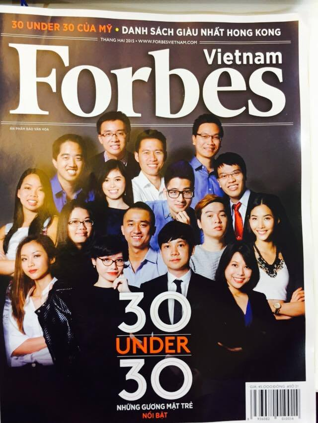 Pham Le Nguyen - Cover page Forbes Vietnam 30under30