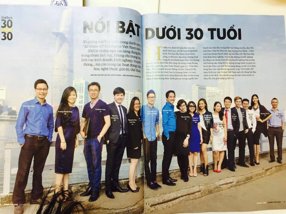 The list of Forbes Vietnam 30under30 in 2015